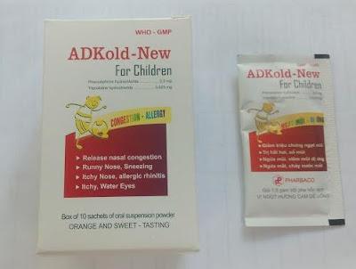 Thuốc cảm cúm ADKold New for Children