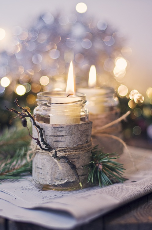 Scandinavian Inspired Christmas Candle Holder | Breathtakingly Rustic Homemade Christmas Decorations