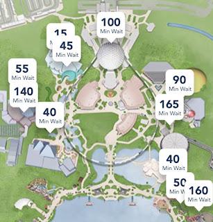 Epcot New Year's Eve 2019 Wait Times Disney World