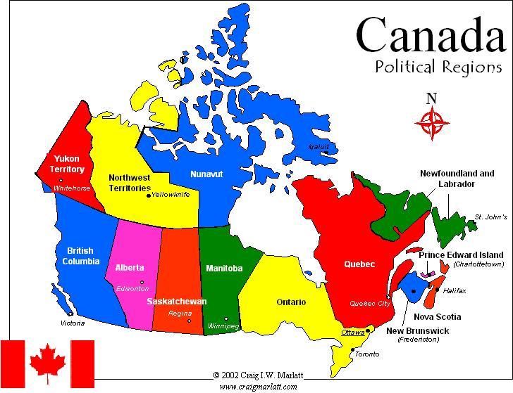 Carte Canada Region.Carte Du Canada Departement Region Carte Du Monde Departement