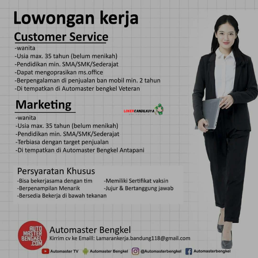 Lowongan Kerja Automaster Bengkel Bandung
