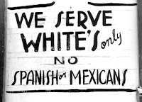 Sign: No Spanish or Mexican