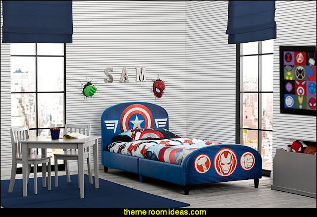 Children Upholstered Twin Bed, Marvel Avengers