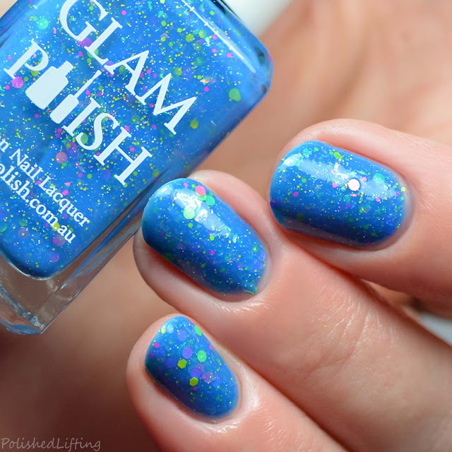 blue jelly nail polish