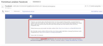 Permintaan unduhan Facebook