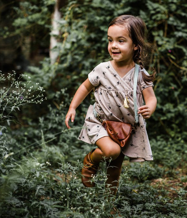 Fin & Vince AW16 kids fashion collection - stork dress