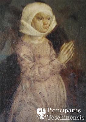 Portret księżenj Jadwigi w kościele w Mlynci na Słowacji