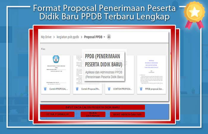 Format Proposal Penerimaan Peserta Didik Baru PPDB Terbaru Lengkap