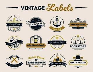 Logo Olshop Kosong Vintage