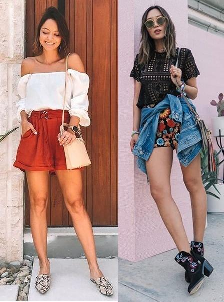 Looks com short, Paula Salvador, Aimee Song
