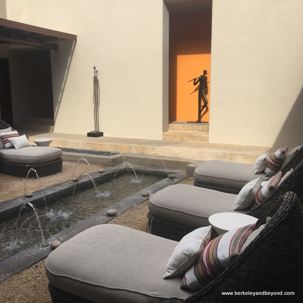 relaxation room at Apuane Spa at Four Seasons Resort Punta Mita in Mexico