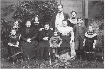Franz Rammrath and his family before 1896.  Egon is the young boy in front, between his grandmother(?) and mother. He would have been about 4-5 years old when this photograph was taken.  (From Wilmersdorf by Udo Christoffel - Sutton Verlag, 1998 - p. 96)  (from Google Books - hope link works)
