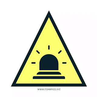 Caution alert symbol and sign for warehouse