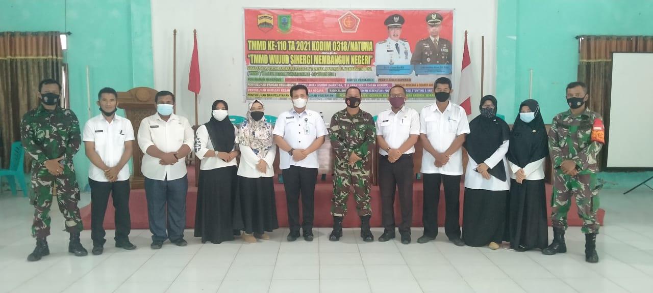 Batituud Koramil 01/Ranai Hadiri Penyuluhan Penyalahgunaan Narkoba, Karhutla dan Hukum
