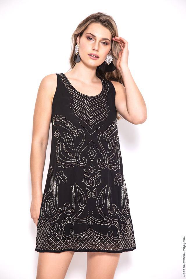 Vestidos cortos de verano negros 2020.