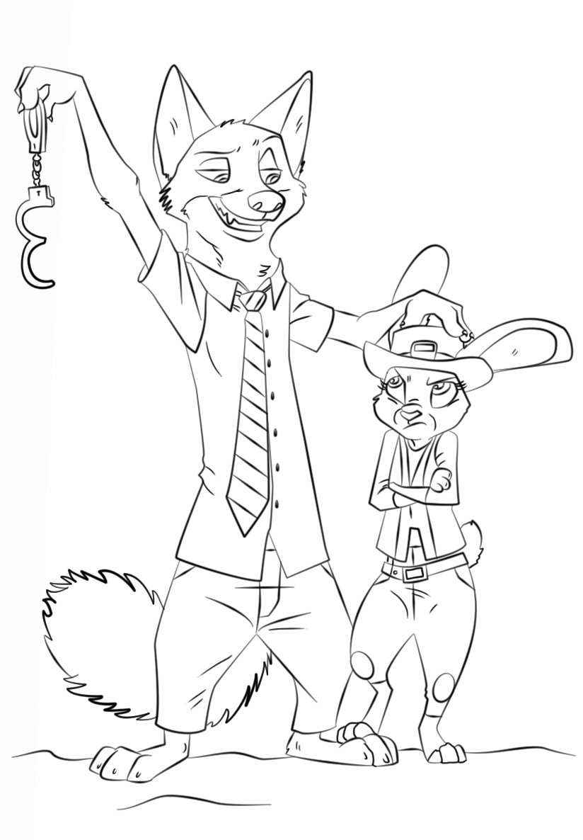 kids under 7 zootopia printables coloring pages