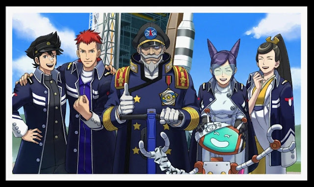 Phoenix Wright Ace Attorney Dual Destinies HAT-1 rocket staff Cosmos Space Center Clay Terran Starbuck Aura Metis Cykes
