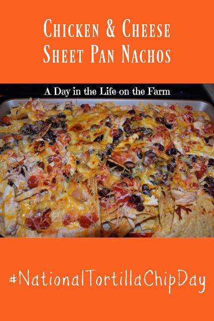 Sheet Pan Chicken and Cheese Nachos pin