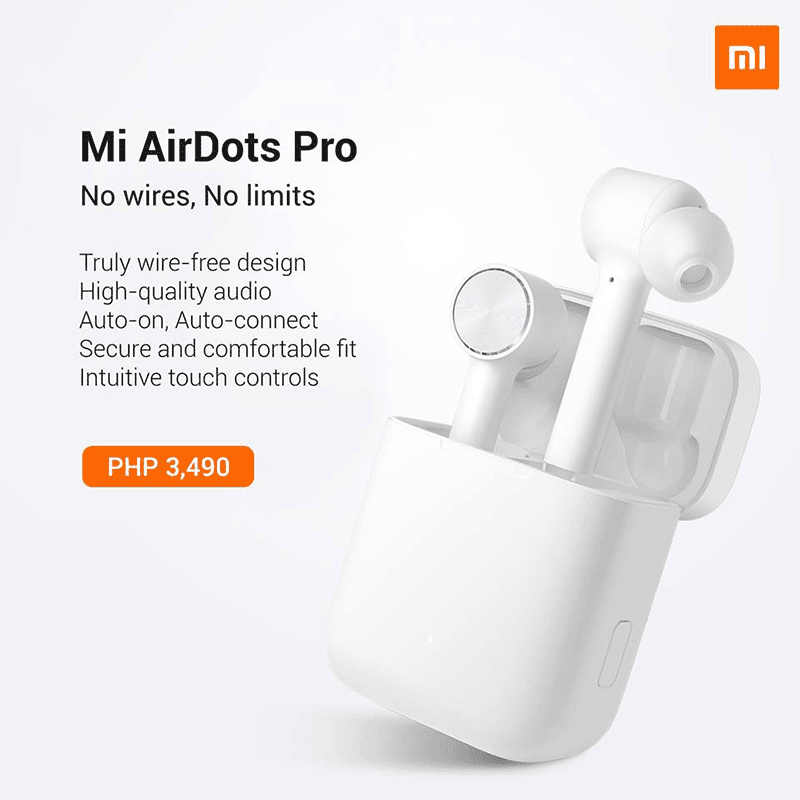 c56367bd813 Xiaomi Mi AirDots Pro true wireless earphones arrives in the Philippines
