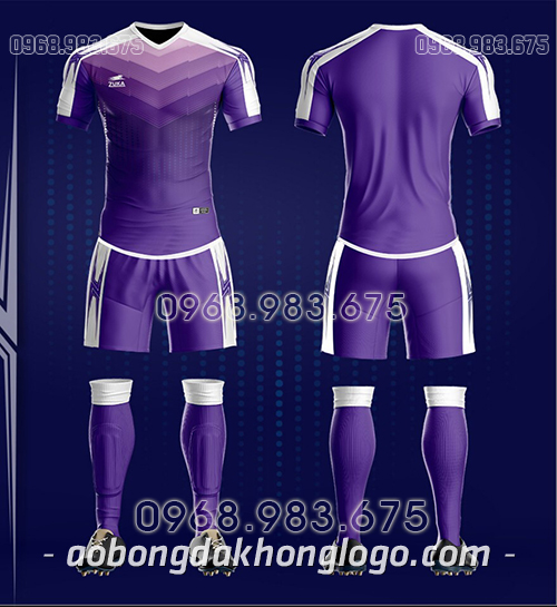 Áo bóng đá ko logo Zuka CV màu tím