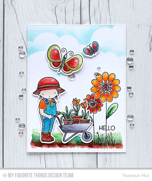 Handmade card from Yoonsun Hur featuring products My Favorite Things #mftstamps