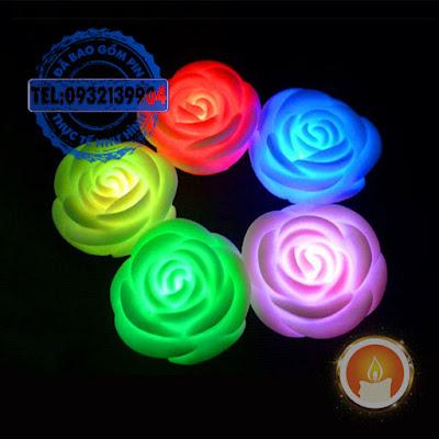 Đèn led hình hoa hồng đổi nhiều màu