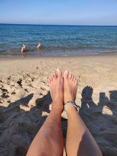bare feet on beach
