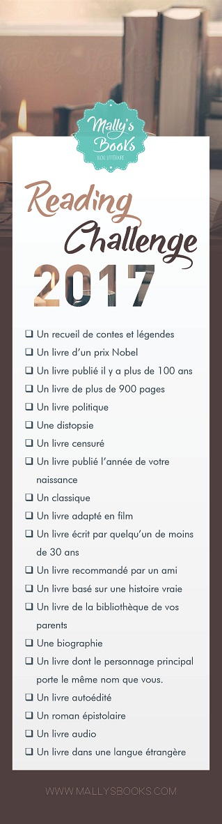 Mally's Books fait son Reading Challenge 2017 !