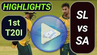 SA vs SL 1st T20I 2021