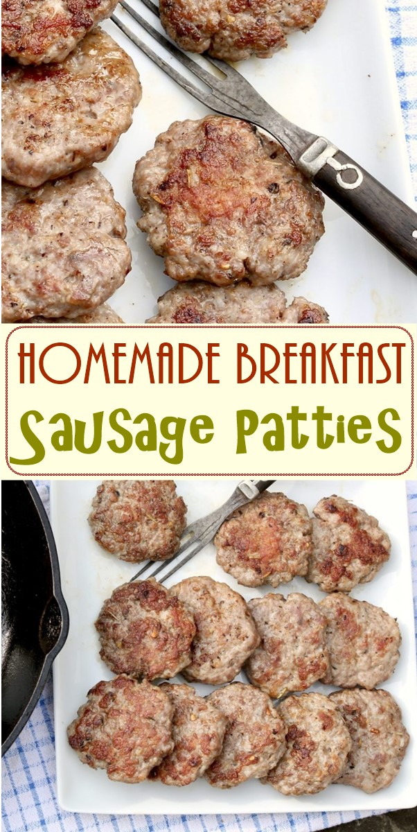 Homemade Breakfast Sausage Patties #breakfastideas