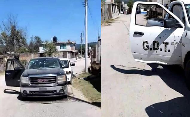 Sicarios del El CJNG emboscan y matan a Sicarios del Cártel de Sinaloa , el blindaje no soporte el poderoso calibre de las balas