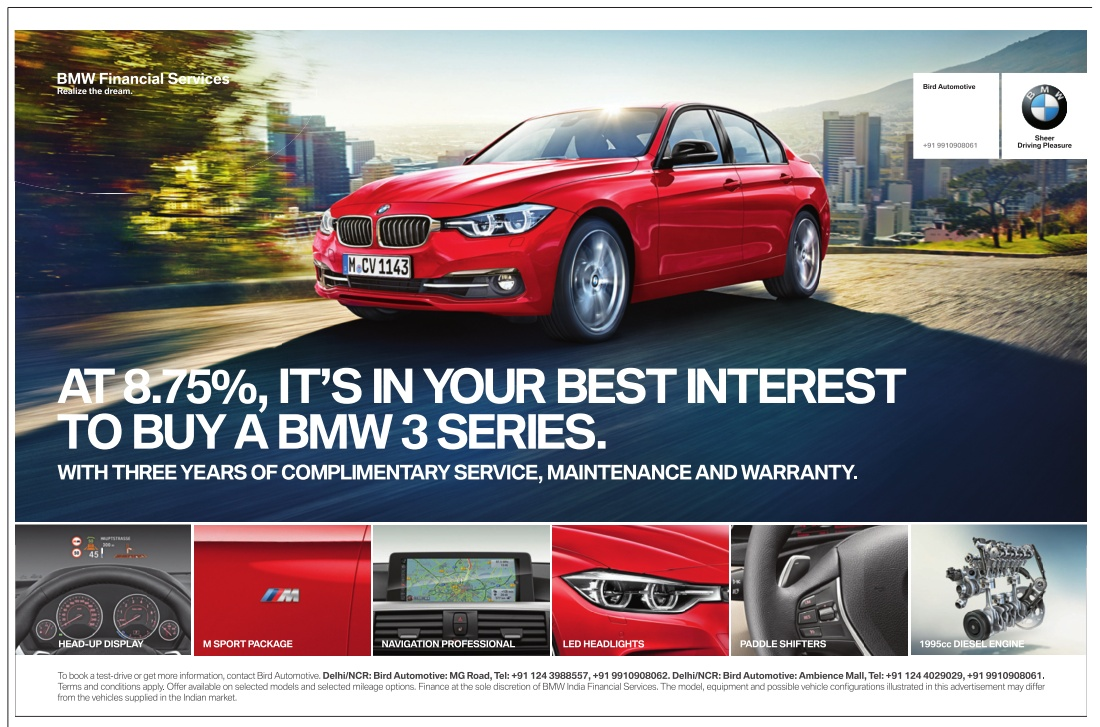 BMW at 8.75% rate of interest and more amazing offers | April 2016 discount offers
