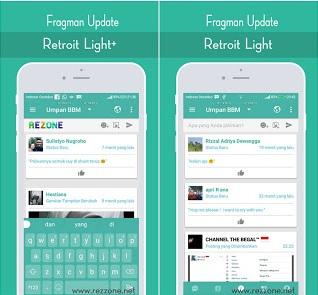 BBM Terbaru Retroit Light v1.2 Based 3.3.1.24