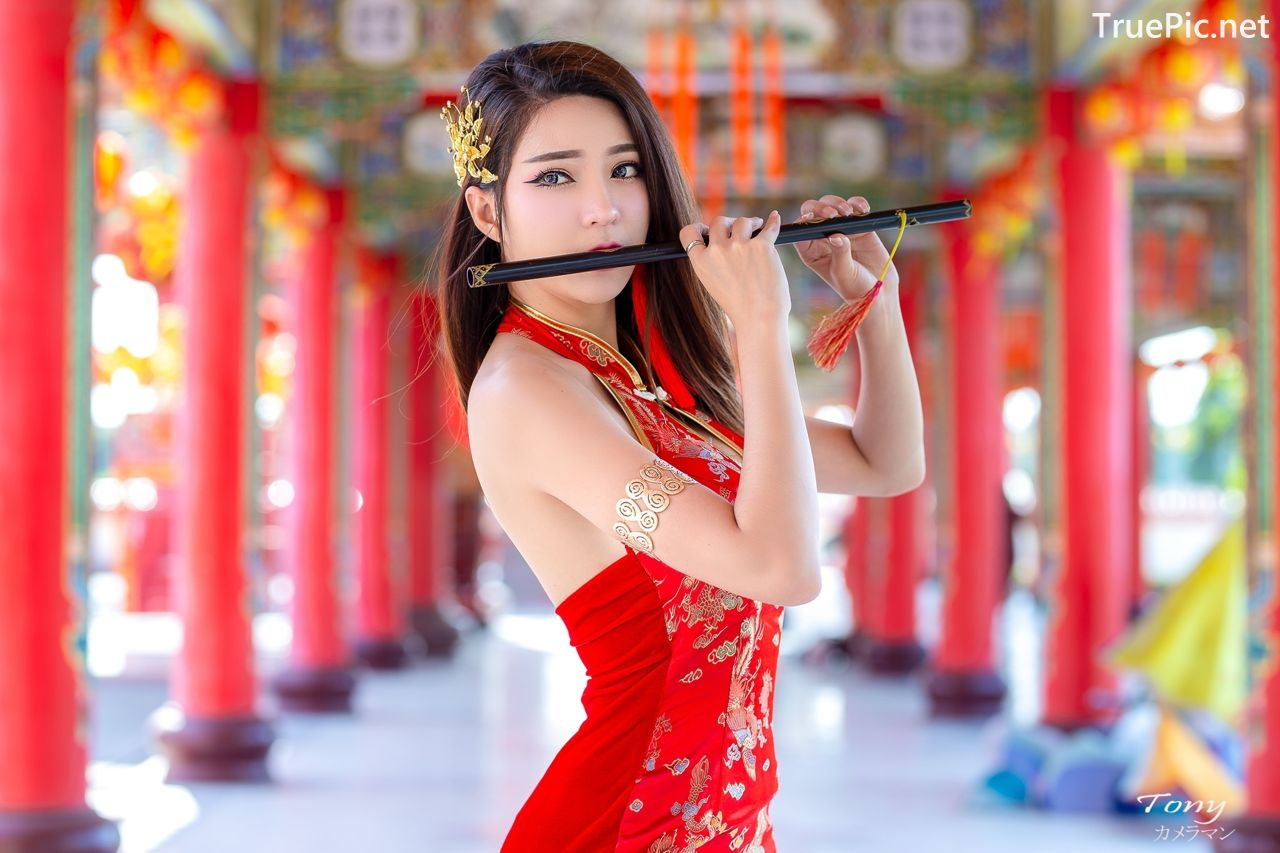 Image-Thailand-Hot-Model-Janet-Kanokwan-Saesim-Sexy-Chinese-Girl-Red-Dress-Traditional-TruePic.net- Picture-2