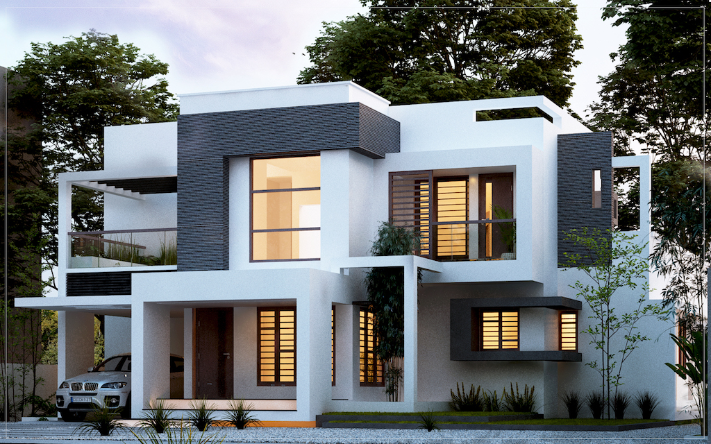 4 bhk home map by Architect