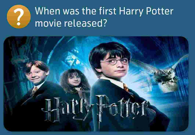 When was the first Harry Potter movie released?