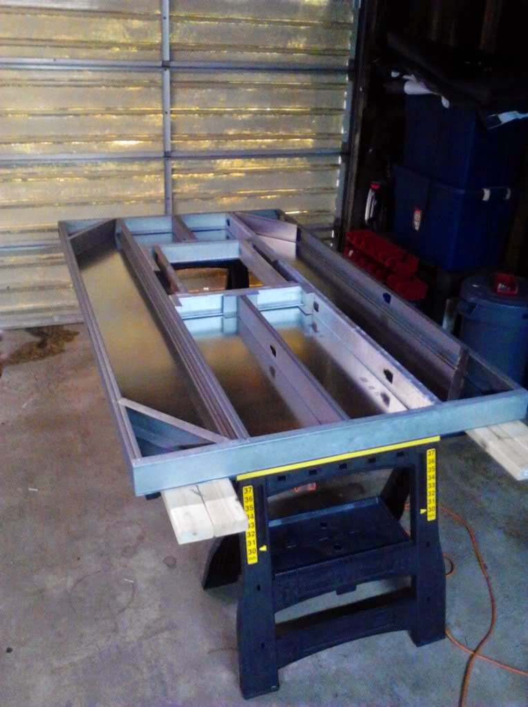 powder coating oven build door