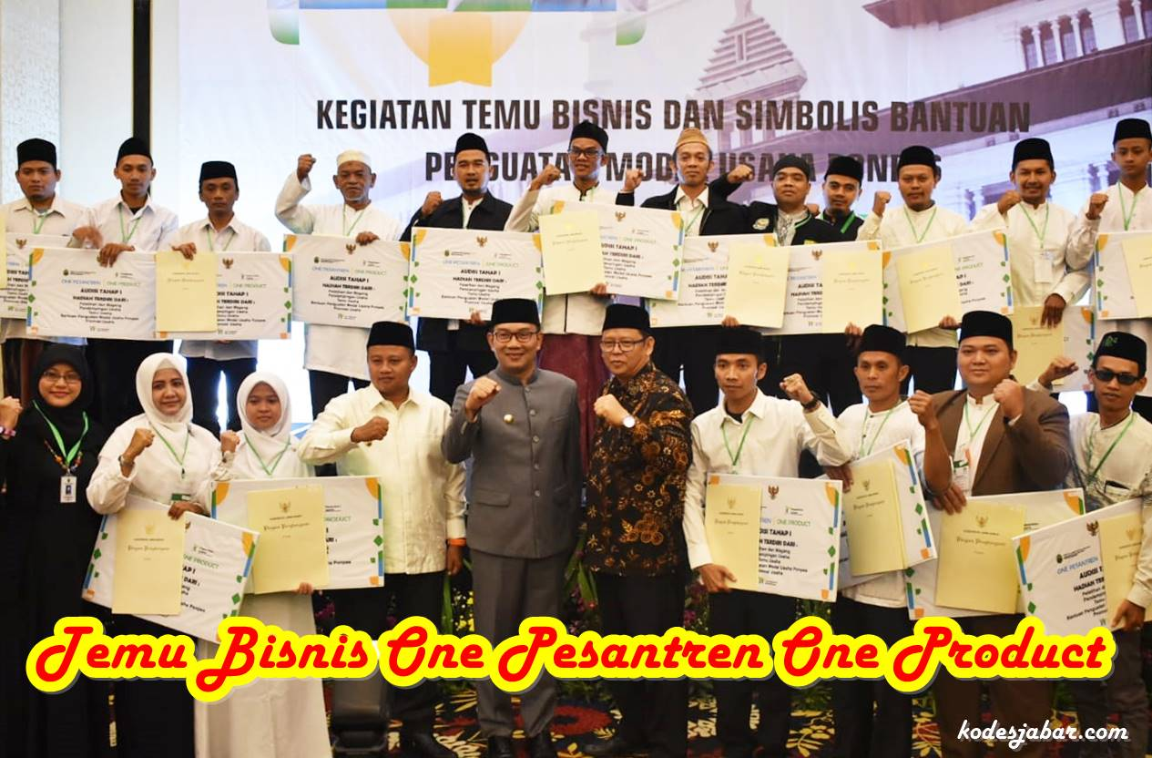 1074 Pesantren di Jawa Barat Lolos Audisi One Pesantren One Product