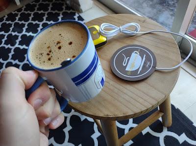 cafe quente suporte aquecedor xicara ceramica powerbank usb 1a
