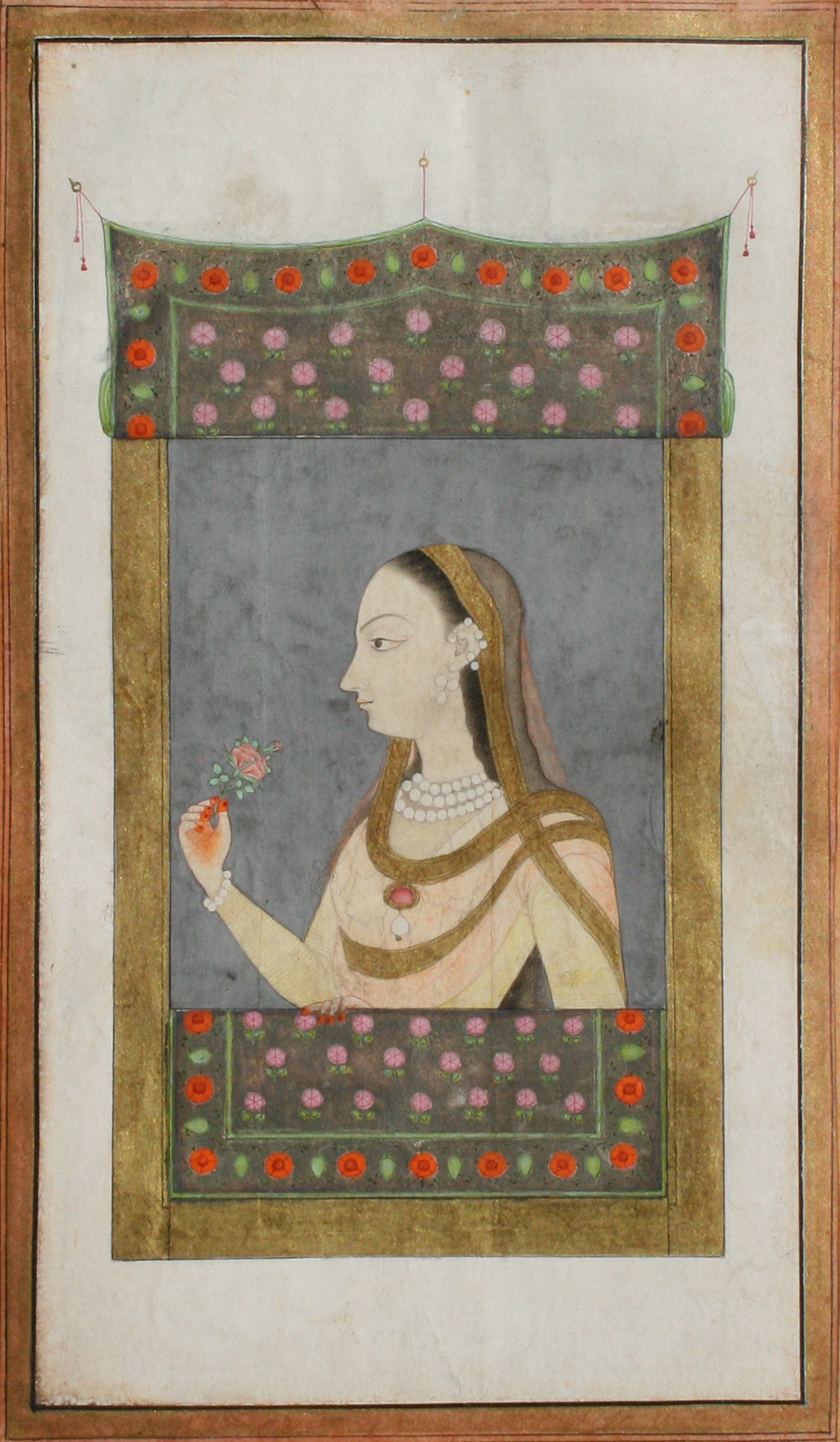 Princess Sitting at a Window - Awadh, Mughal Painting, c1730