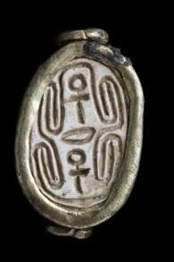 Un escarabajo que data del periodo cananeo que fue descubierto en Tel Gezer en noviembre de 2016