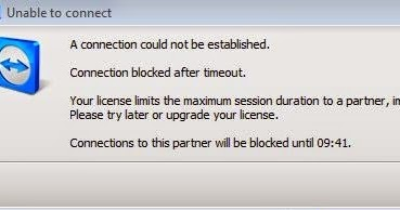 Khắc phục Connection blocked after timeout teamviewer