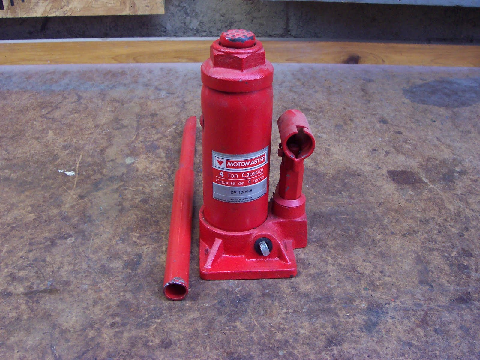 Hydraulic Bottle Jack Filling and Release Valve 'Repair'