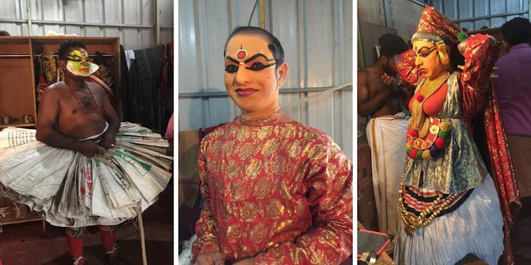 Kathakali Behind The Scenes