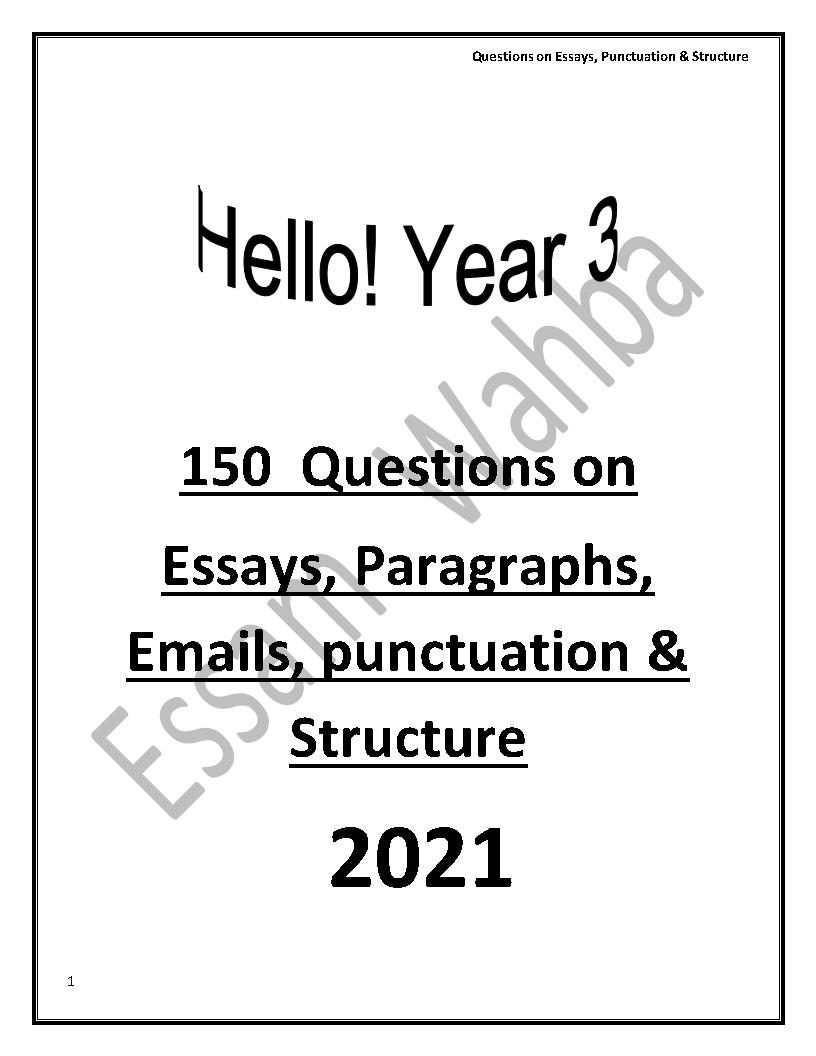 150سؤال فى مهارات الكتابة بالإجابات للثانوية العامة 2021 إهداء مستر عصام وهبه