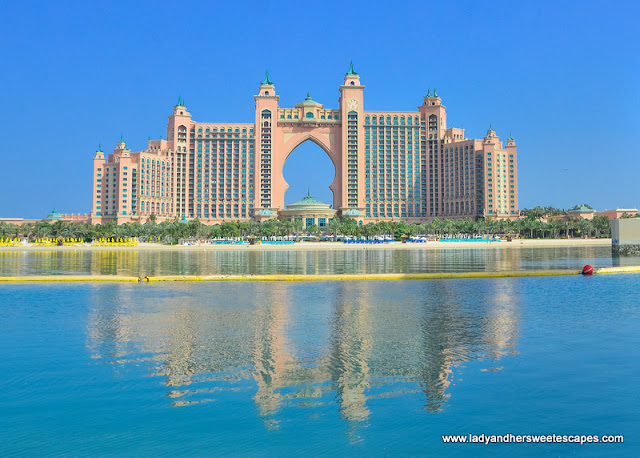 A postcard-perfect view of Atlantis The Palm