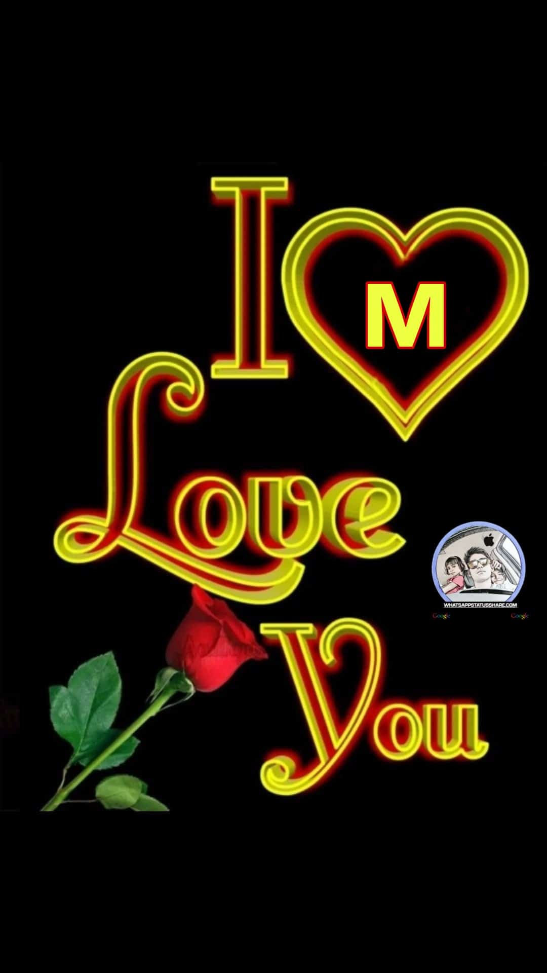 i love you m nameart