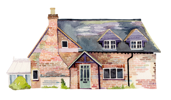 watercolour illustrations holly exley illustrator two house