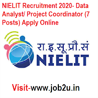 NIELIT Recruitment 2020, Data Analyst, Project Coordinator (7 Posts) Apply Online