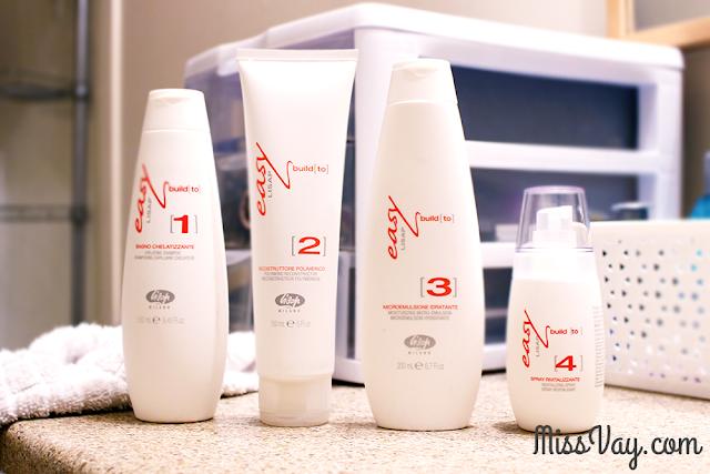 traitement soins cheveux Easy Build de Lisap